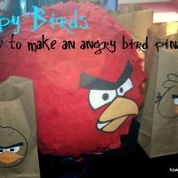 DIY {Pull String} Angry Bird Pinata