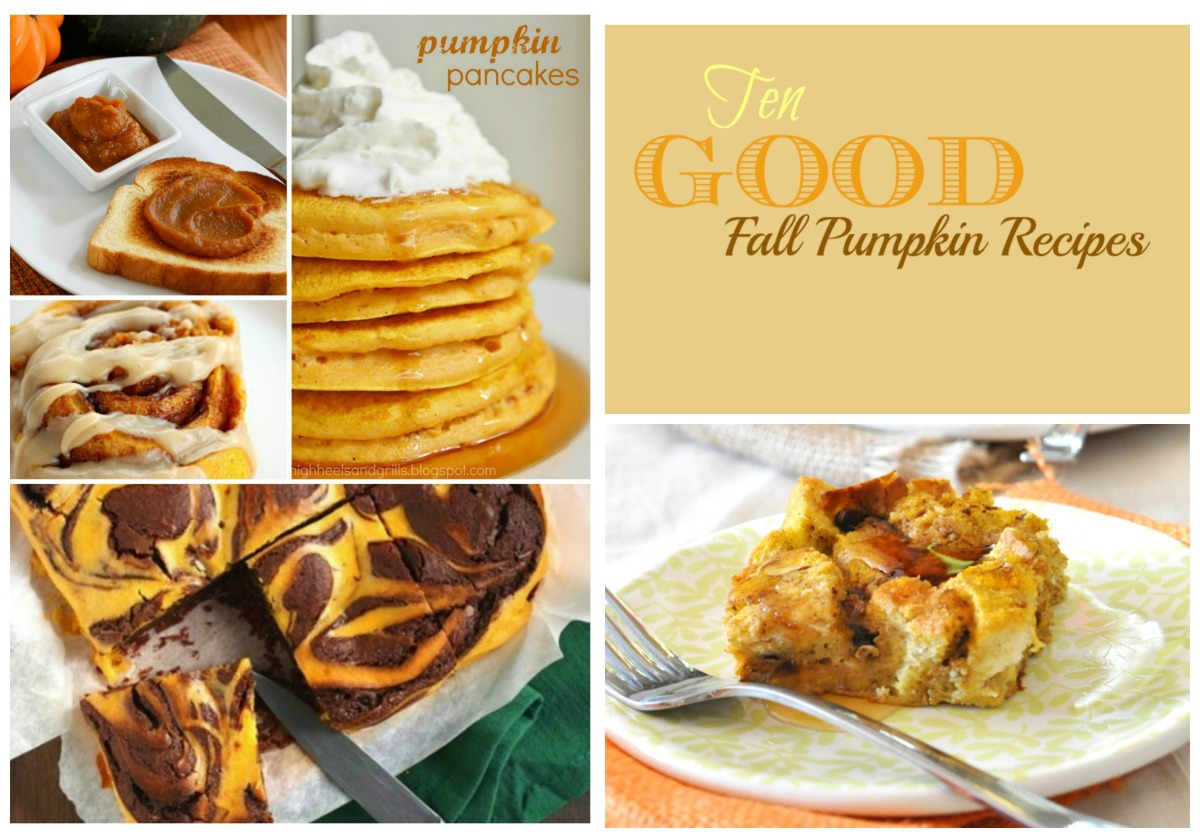 Ten Good Fall Pumpkin Recipe's on Meal Plan Monday's (Roundup)