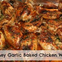 Meal Plan Monday on Tuesday: Honey Garlic Baked Chicken Wings