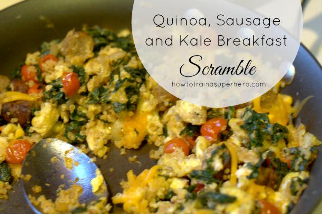 kale quinoa scramble